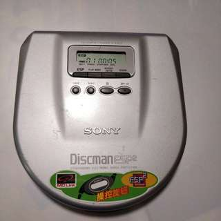 SONY   D-E554有光纖輸出CD播放機