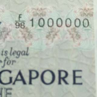 F/98 1000000 sg old notes
