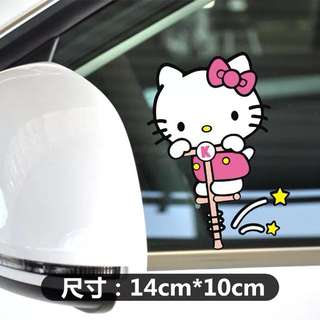 Hello kitty car decal sticker