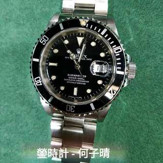 Rolex 16610 黑十 新淨淨錶