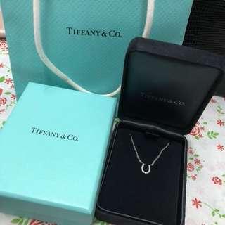 Tiffany 18k白金 鑽石頸鍊