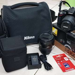 Nikon D5100 Original Set + Sigma 10-20mm f3.5 Lens