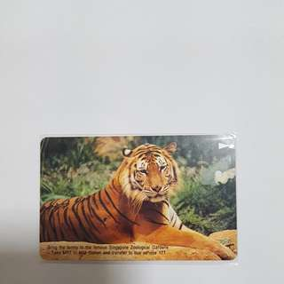 MRT Card - Singapore Zoological Garden