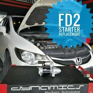Honda Civic FD2 :Starter Replacement