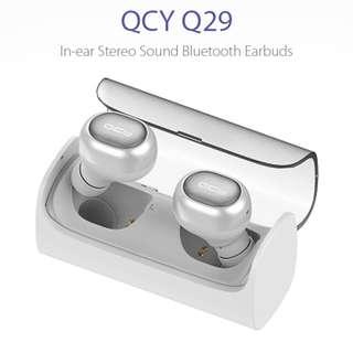 全新QCY - Q29雙耳式無線4.0藍牙耳機 –  白色