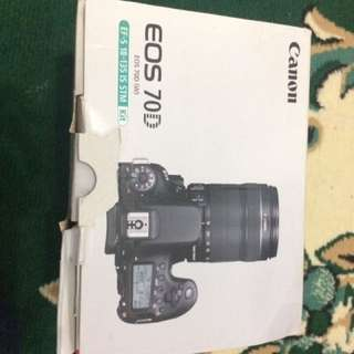 Kamera canon eos 70d (second) fullset
