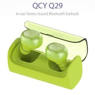 全新QCY - Q29雙耳式無線4.0藍牙耳機 – 綠色