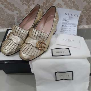 Gucci shoes mid heels pumps