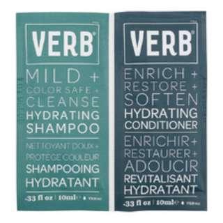 VERB Hydrating Shampoo & Hydrating Conditioner (2 x 10ml)