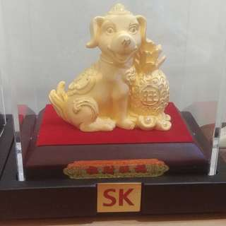 SK 24k pure gold plated figurine