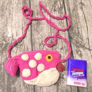 魚形 小袋子 Fish bag