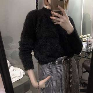 UNIQLO Faux Fur Sweater