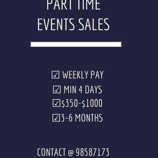 Events Sales Promoter - Weekly Pay