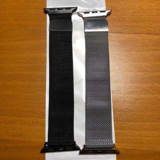 Apple Watch Milanese magnetic straps (Black & Silver) - 38mm