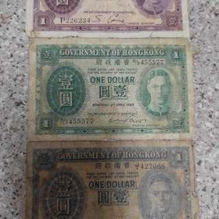 舊$1銀紙
