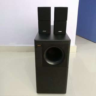 Bose Acoustimass powered subwoofer Stereo cube system