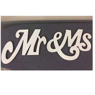 """""""Mr & Ms"""" Wooden Calligraphy"""