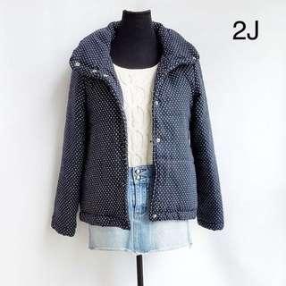 Polka winter jacket
