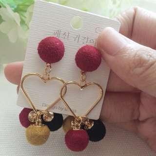 Red Pum Pum earrings