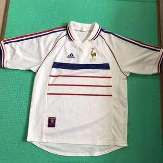 經典98年法國作客球衣大碼