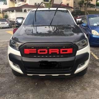 ford ranger carbon fiber hood