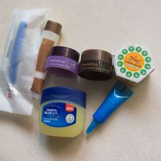 Assorted skin products