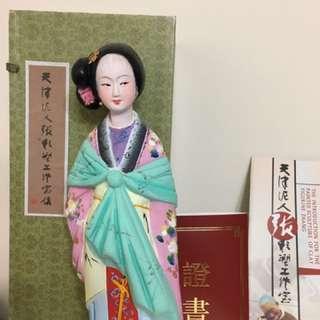 天津泥人張-楊貴妃彩塑