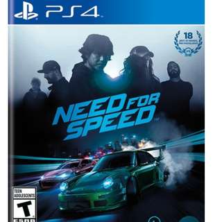 PS4 Games Need For Speed