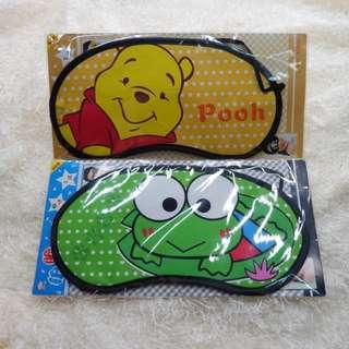Penutup Mata , Masker Mata, Eye Mask Karakter Winnie the Pooh & Keropi