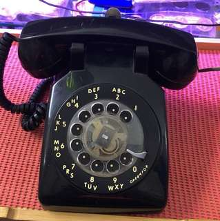 Black Dial Telephone Dynalec US Navy