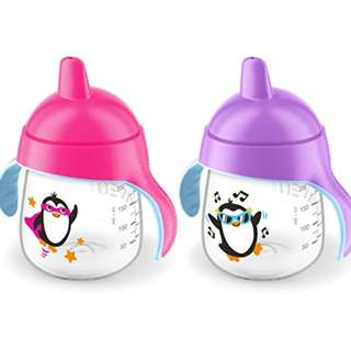9oz Philips Avent Penguin Sippy Spout Cup, 9m+ (1 pc, Loose Pack)