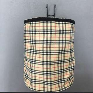 Cylinder fabric basket with zipper lid and hook, for scooter or bicycle.
