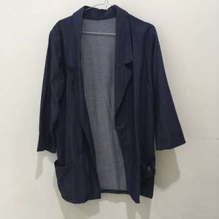 Denim Blazer Navy