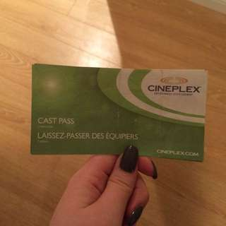 Cineplex Cast Passes