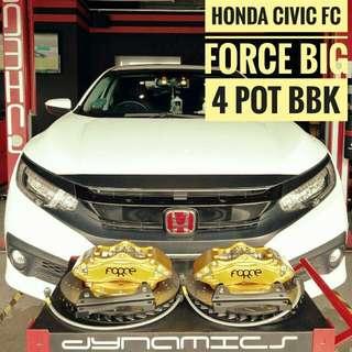 Honda Civic FC: FORCE Big 4 Pot BBK(Big Brake Kit)