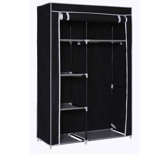 Portable Wardrobe & Storage Organizer with Metal Shelving