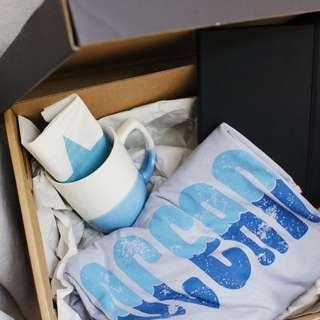Valentines blue gift set for him