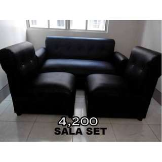 sala set black leather