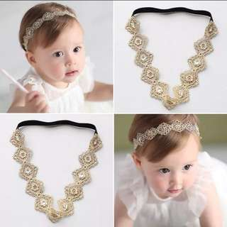 Baby Golden Bohemian Style HeadBand