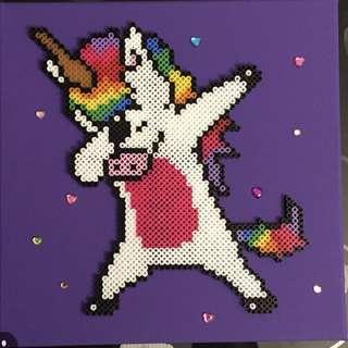 Dabbing Unicorn Hama Bead Design