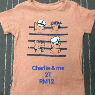 Charlie & Me T-shirt, 2T/24M (Preloved)