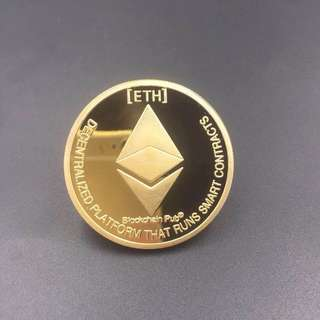 Ethereum ETH CRYPTO Commemorative Collectors Coin Gift