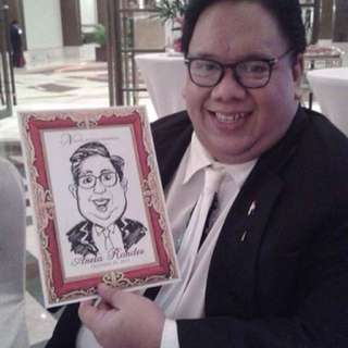 On-the-spot caricature souvenirs for events!