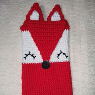 Crocheted Cellphone case / Red Fox