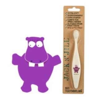 (In Stock)Hippo, Jack N' Jill Bio Toothbrush 澳洲有機玉米澱粉製造牙刷 (河馬款)