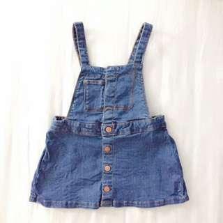 ZARA Baby Girl Denim Overall Dress
