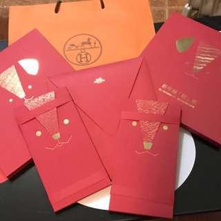 Hermès  Year of Dog Red Pockets 狗年限量利是封,一套十個共兩套(兩套計)