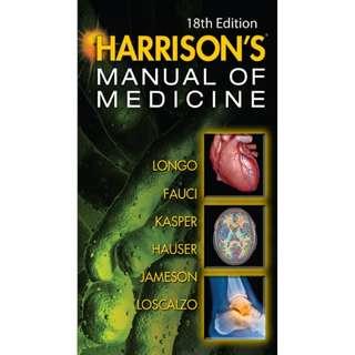 Ebook Kedokteran Harrisons Manual of Medicine 18th Edition