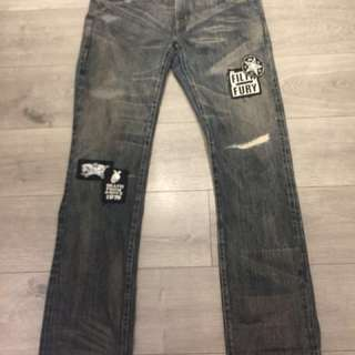 Neighborhood 20th Anniversary Metal Savage Narrow Jean Size XL Supreme Off White Bape LVC