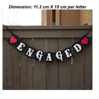 ❤️️ENGAGED ❤️️Letter Garlands/ Wedding Photo Booth Props/ Wedding Decor